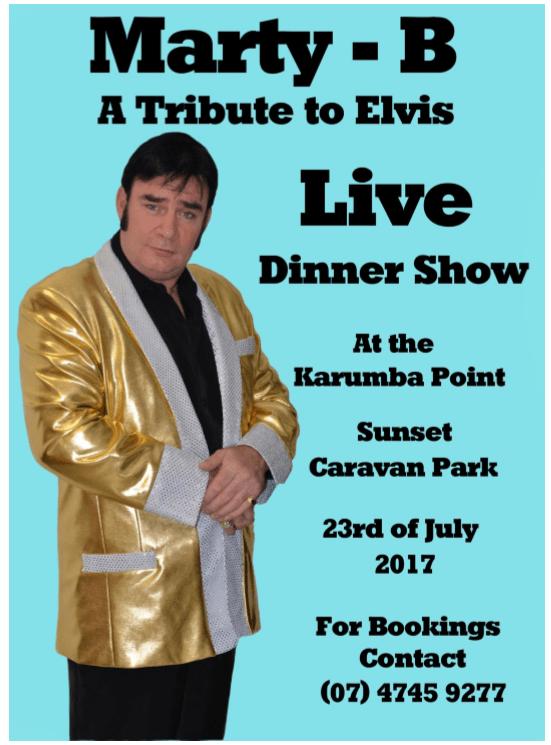 Elvis Show Karumba Point Sunset Caravan Park