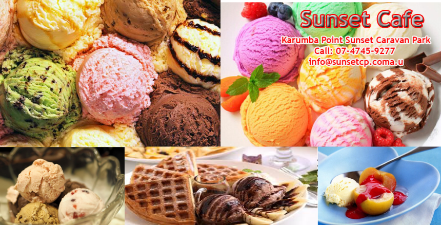 Sunset Cafe Ice Cream Coffee Cakes Karumba Point Sunset Caravan Park