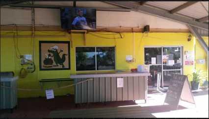 Entertainment Area Karumba Point Sunset Caravan Park TV LCD Watch Program