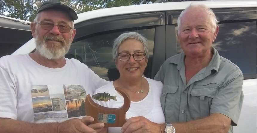 Winner's of the weekly Cosy Corner Fishing Competition are: David, John and for the first time a female winner with a massive weekly score of 56 point - Lillian.