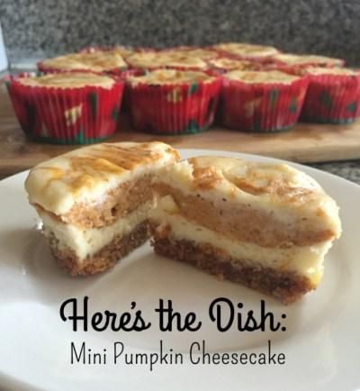Here's the Dish: Mini Pumpkin Cheesecakes