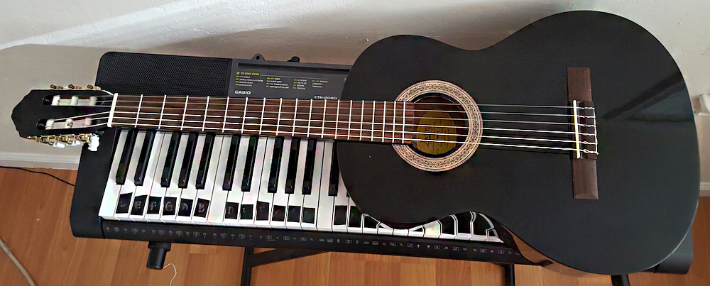 My first big investment Guitar: classical Lucero.