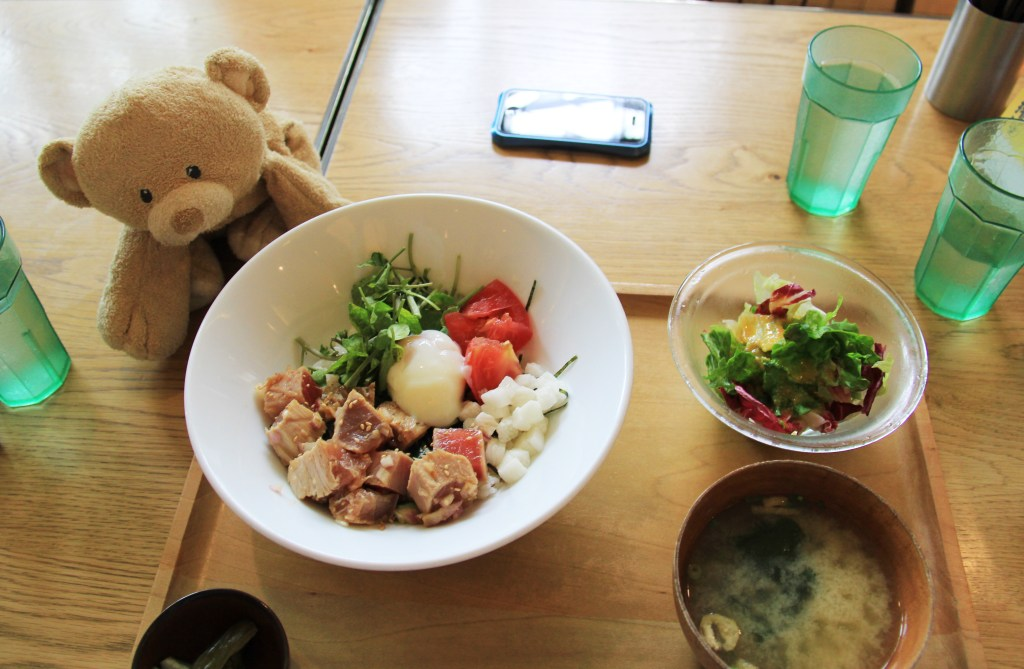 My delicious, colorful lunch in Yokohama.
