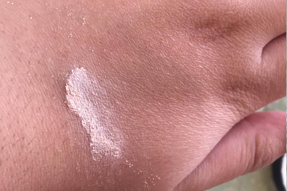 Powder swatch on my hand.