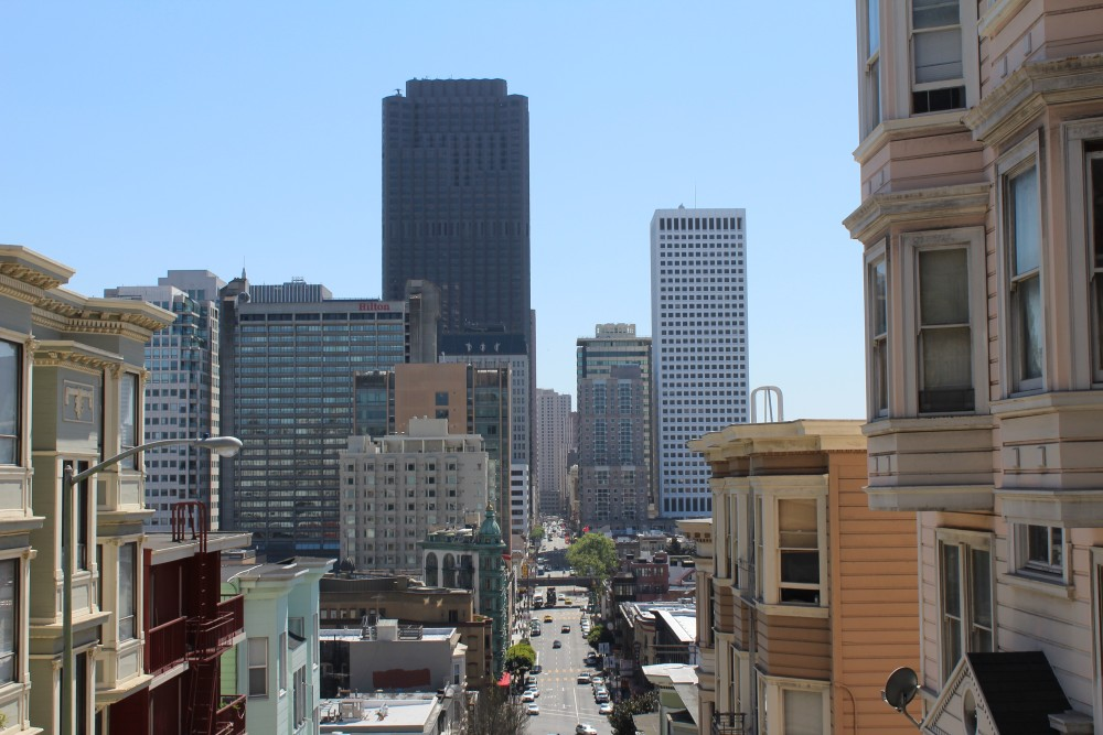 another view of the streets from the base of Coit Tower