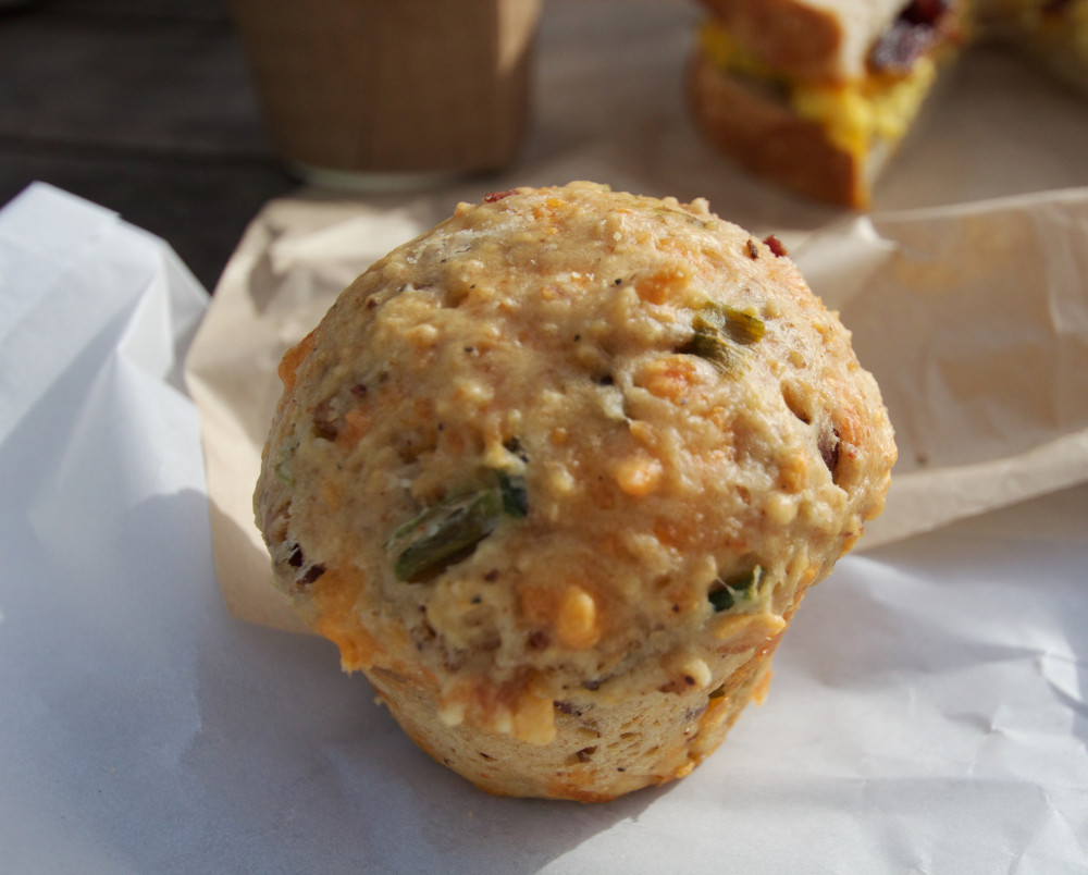 The bacon and cheddar muffin