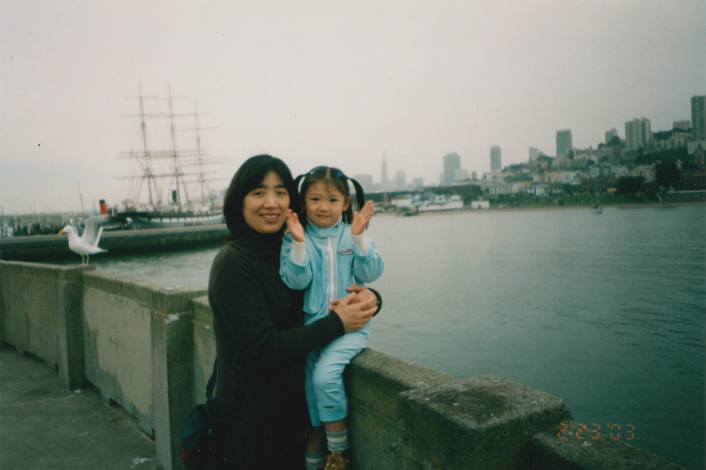 My mom and I spending the day in exploring Fisherman's Wharf.