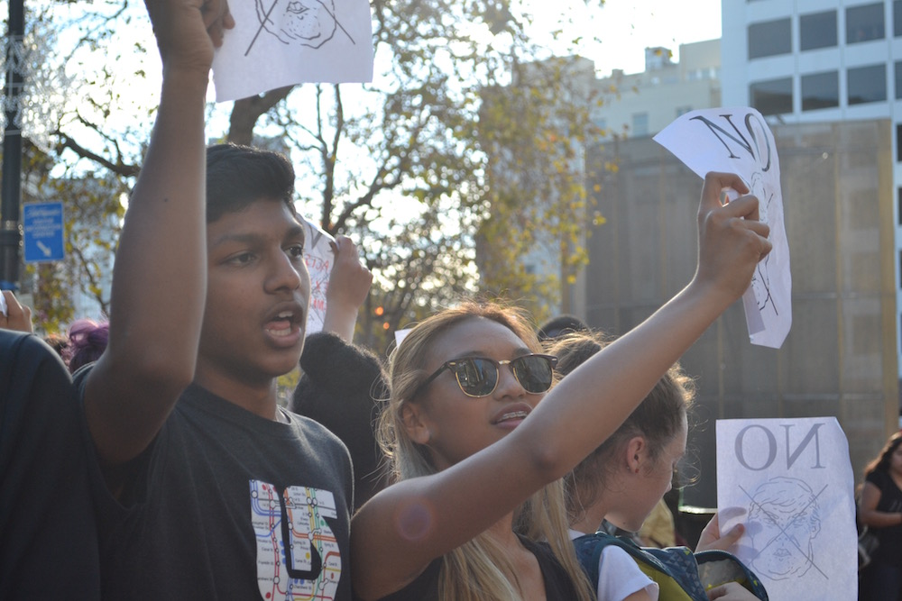 Photo of San Francisco Student Protest by Dylan Lalanne Perkins