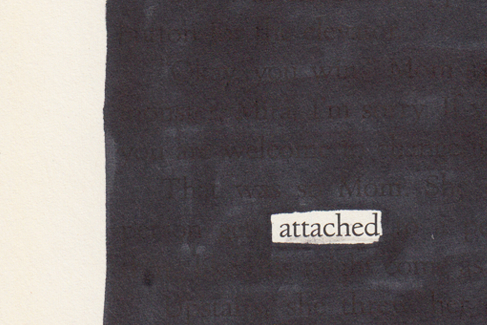 Train of Thought: Blackout Poetry No. 1