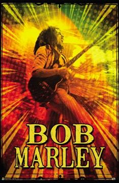 Bob Marley Rasta Guitar Poster