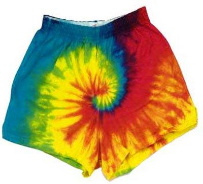 Rainbow Spiral Tie Dye Soffe Cheer Shorts