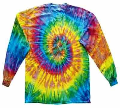 Saturn Spiral Tie Dye T Shirt Sunshine Daydream Hippie Shop