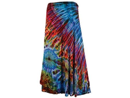 Tie Dye Rayon Wrap Skirt At Sunshine Daydream Chicago
