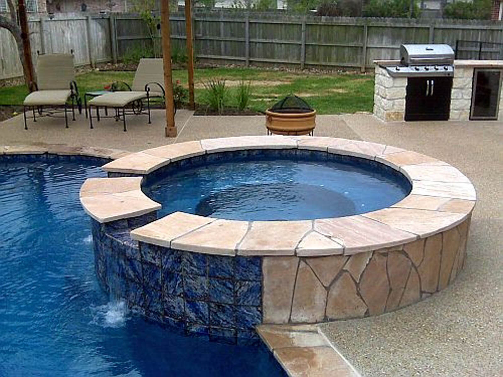 Outdoor Living photos Bryan College Station pool builder on Outdoor Living Spa id=58816