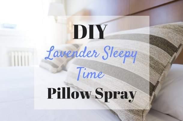 DIY Lavender Essential Oil Pillow Spray