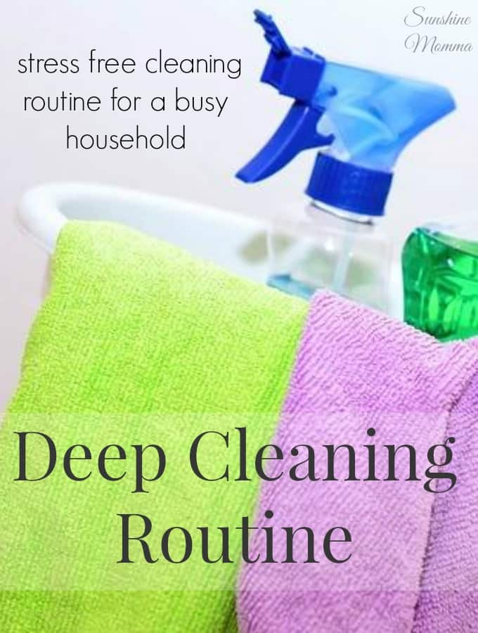 Stress Free Deep Cleaning Routine (Week One)