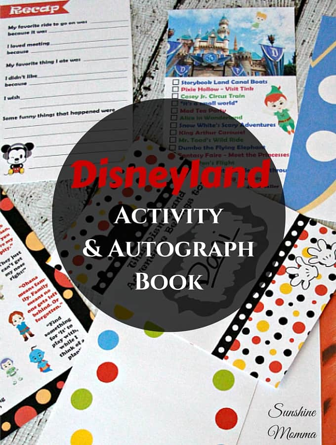 Disneyland Activity & Autograph Book (GIVEAWAY)