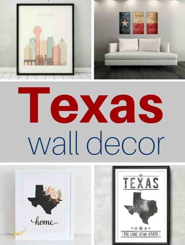 Texas Themed Wall Decor