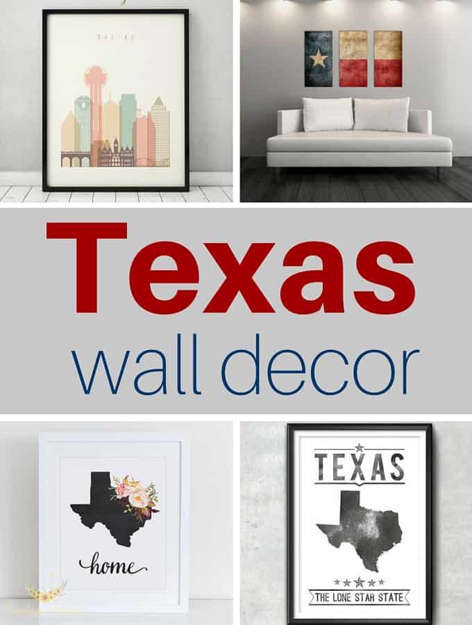 Texas Themed Wall Decor