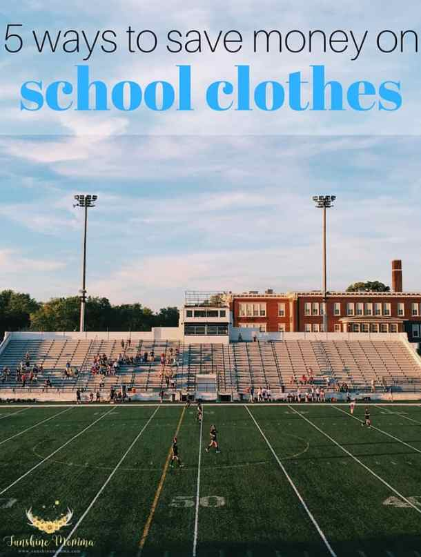 5 ways to save money on school clothes