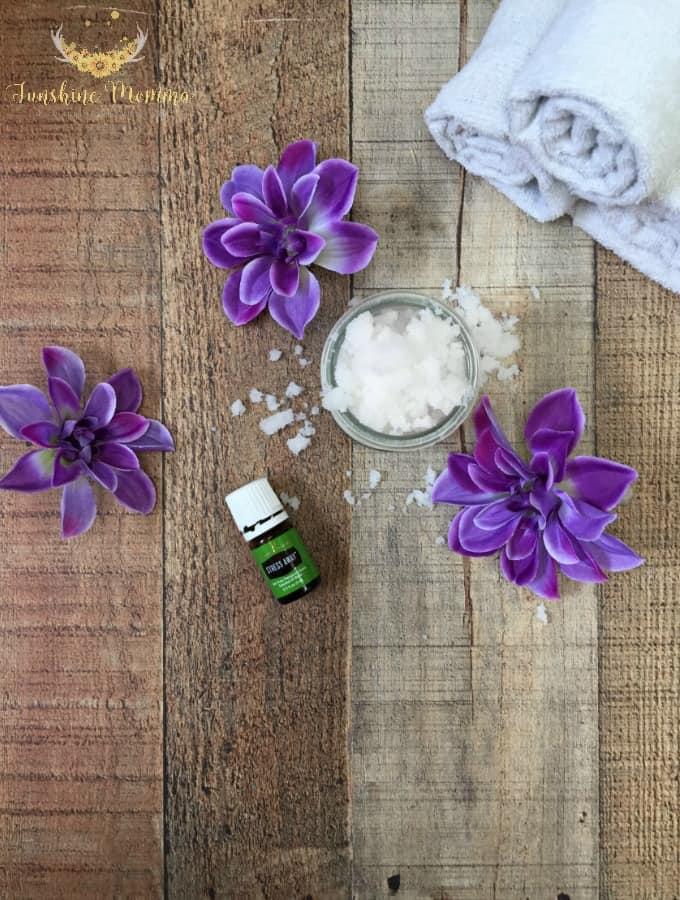 DIY Exfoliating Scrub with Stress Away Essential Oil