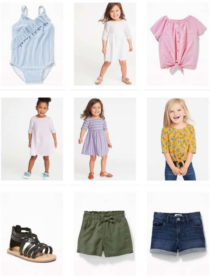 Old Navy Summer Clothing Sale for Kids