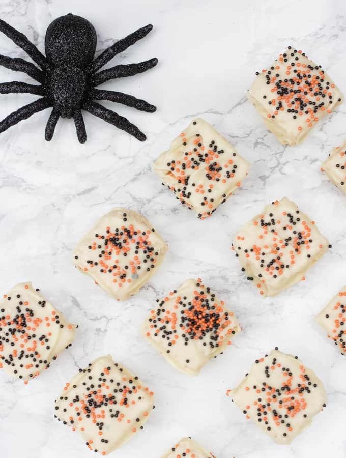 Chocolate Dipped Halloween Rice Krispie Treats