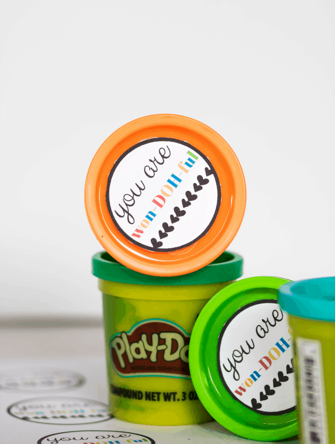 Printable Play-Doh Valentine