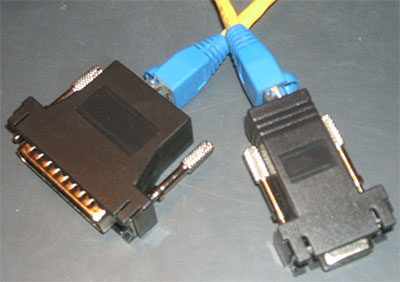 Db9 And Db25 Rs232 Serial Printer To Cat5 Rj45 Adapters