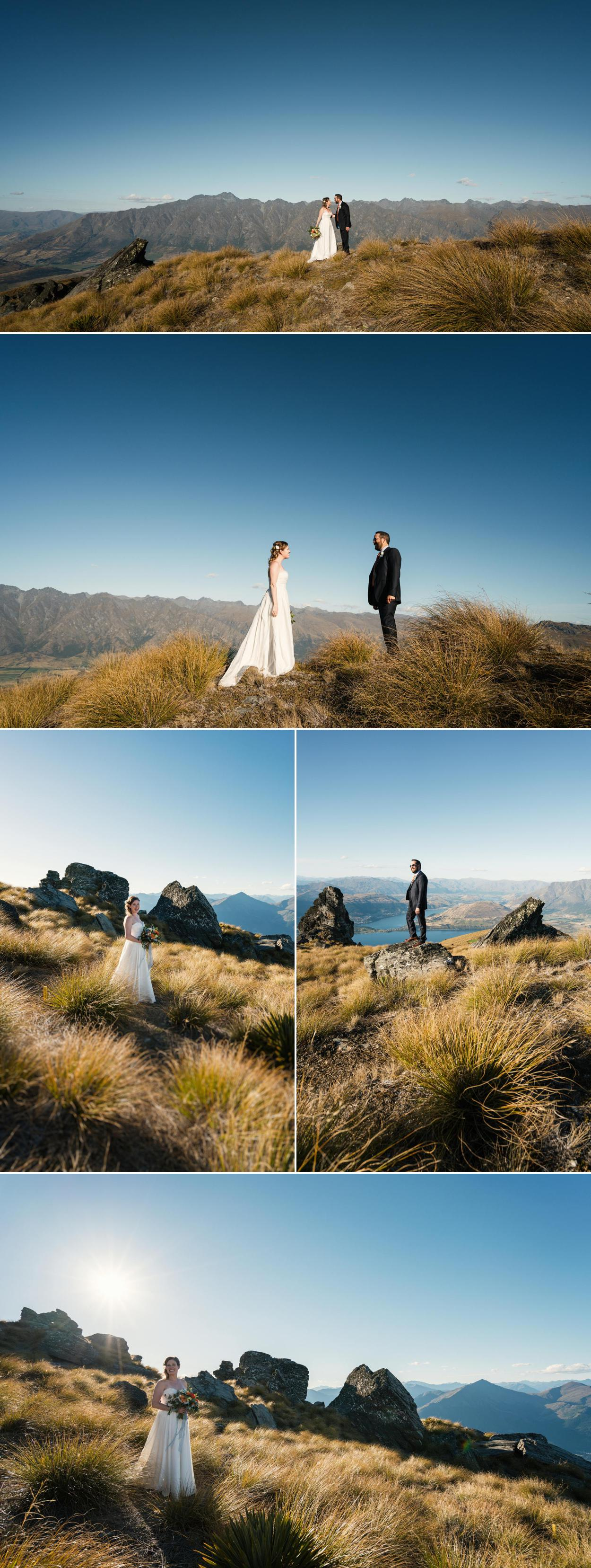Queenstown mountain wedding photography