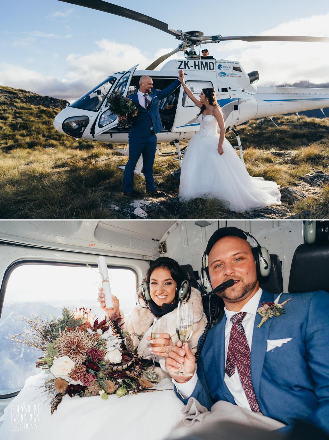 Heliworks wedding Queenstown photographer