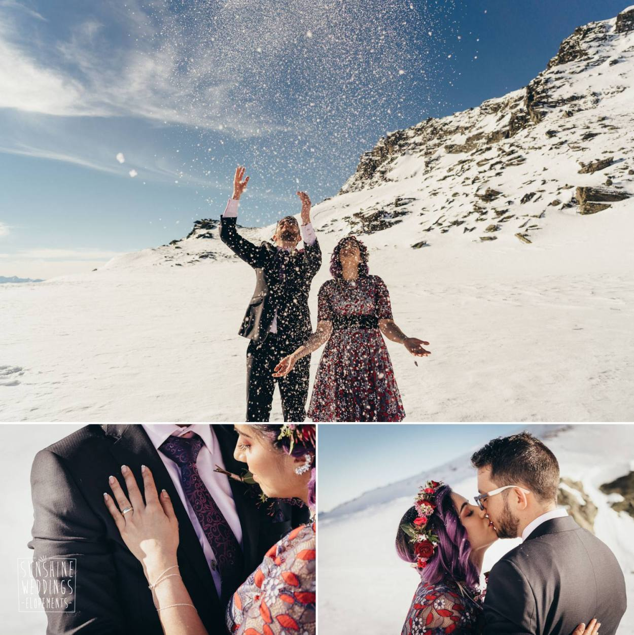 mountain wedding ceremony New Zealand