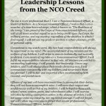 What I Learned About Leadership From the NCO Creed