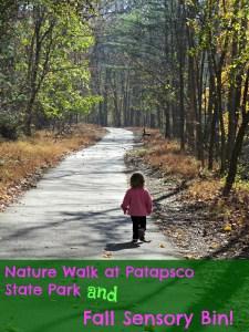 Patapsco State Park Nature Walk and Fall Sensory Bin