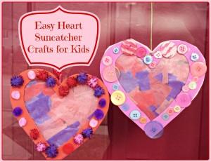 Heart Suncatcher Crafts for Kids