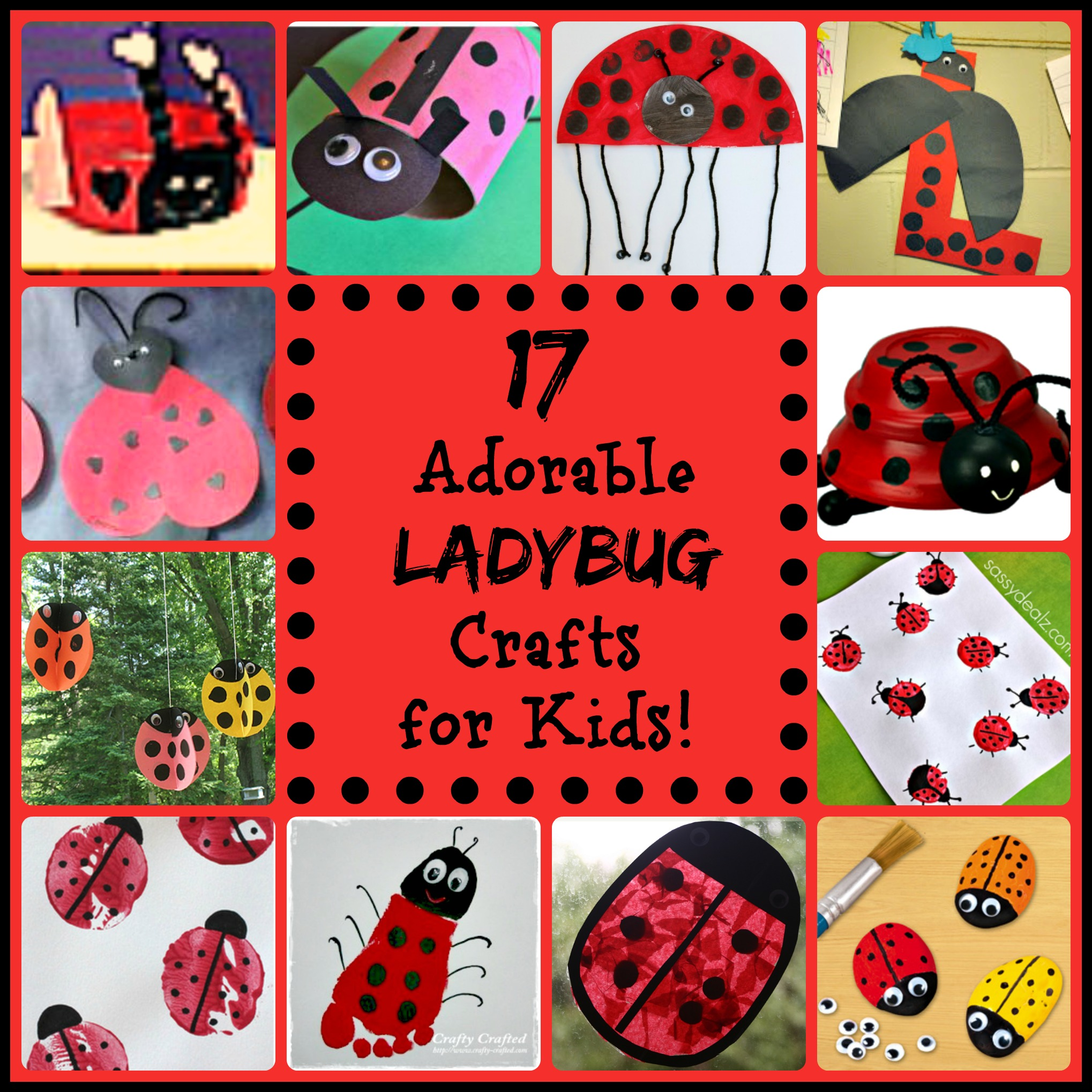 17 Little Ladybug Crafts For Kids