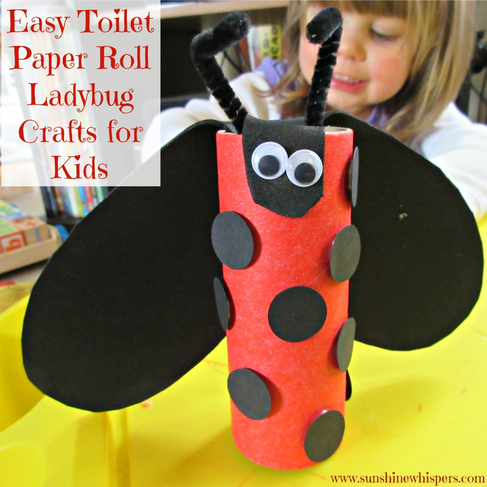 toilet paper roll ladybug craft easy toilet paper roll ladybug crafts for 7259