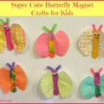 Super Cute Butterfly Magnet Crafts for Kids
