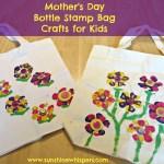 Mother's Day Bottle Stamp Bag Crafts for Kids