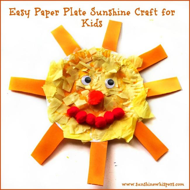 paper plate sunshine crafts for kids