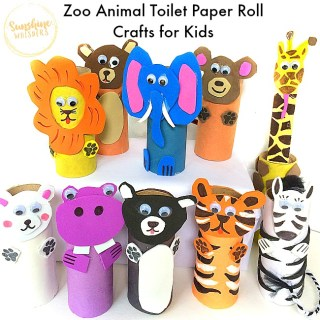 zoo animal toilet paper roll craft for kids
