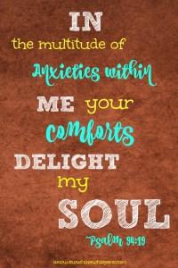 How God's Comfort Calms Your Spirit