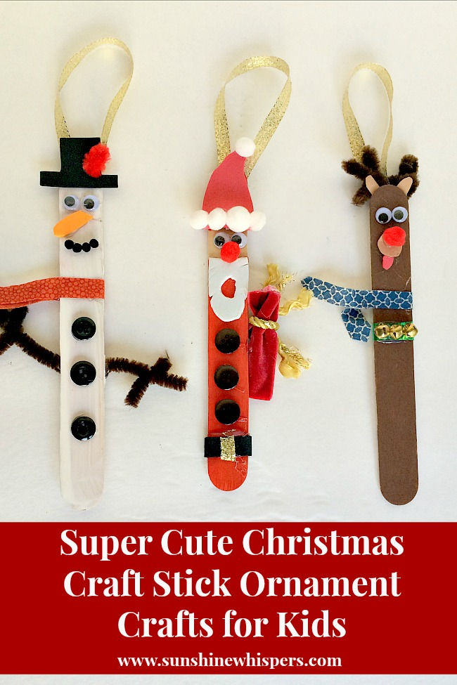 totally cute christmas craft stick ornament crafts for kids