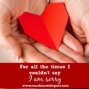 i am sorry 6