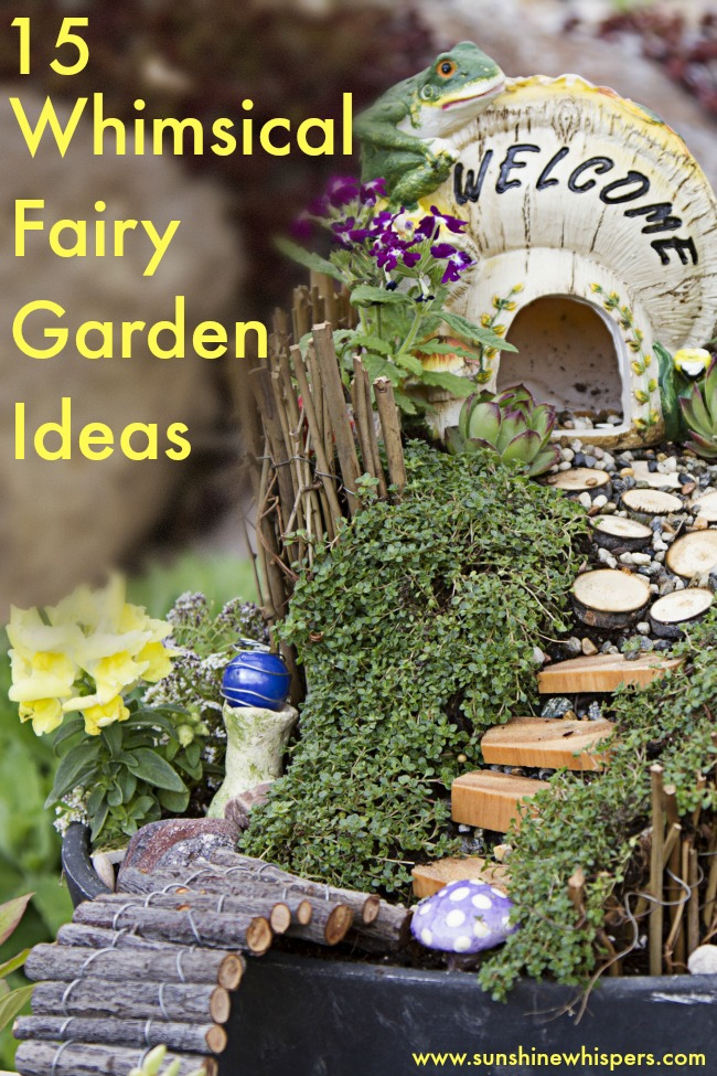 15 Whimsical Ideas to Make Your Fairy Garden Magical on Magical Backyard Ideas id=99774
