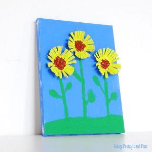 Sunflower-Egg-Carton-Craft-easy peasy and fun