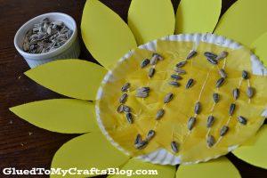 sunflower-kid-craft-6 glued to my crafts