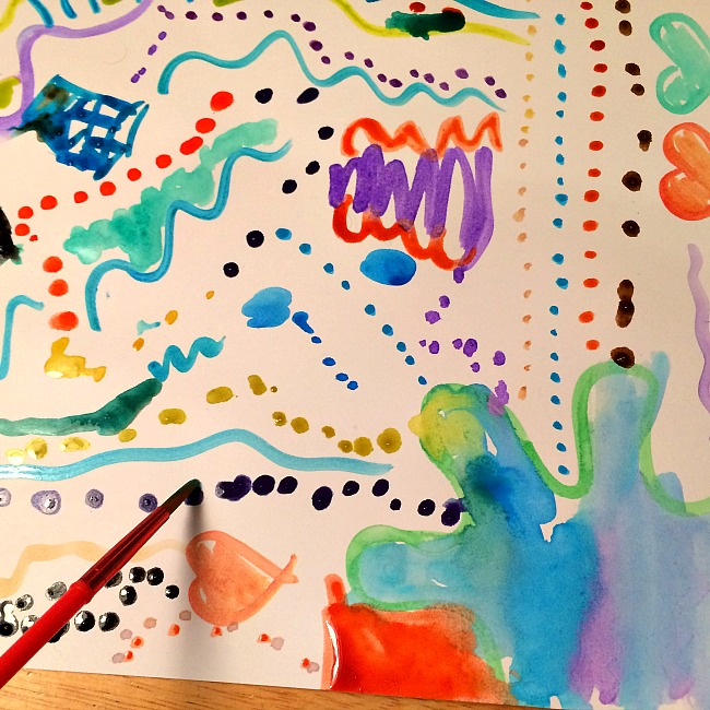 creating art to reconnect with kids