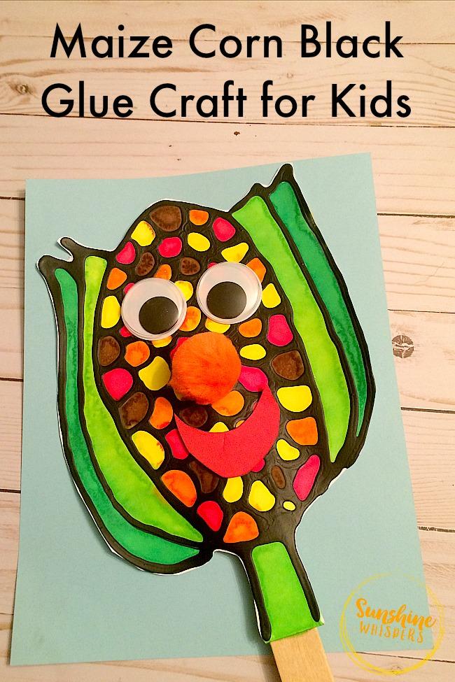 black glue crafts for kids