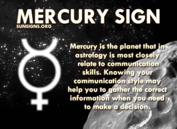 Mercury Sign Sun Signs